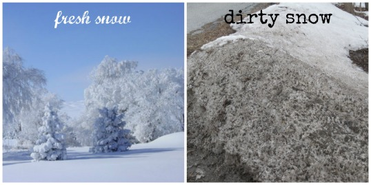 fresh-dirty snow