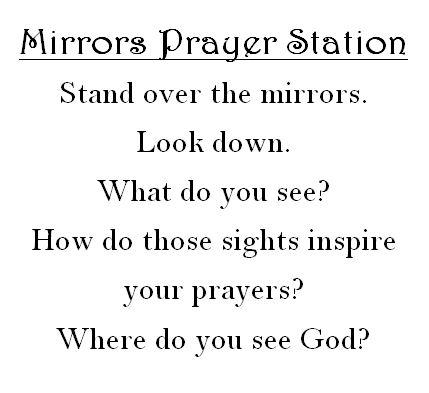 Mirrors prayer station