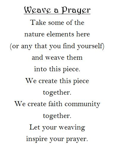 Nature weaving prayer station