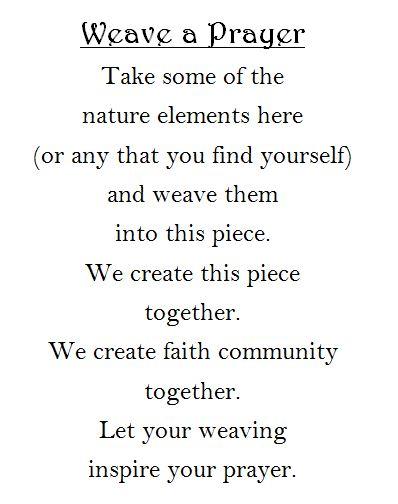 Nature weaving prayer station