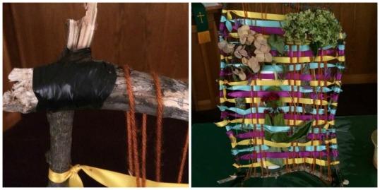 prayer weaving collage
