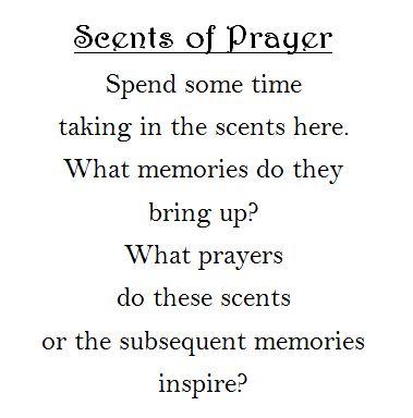 Scents prayer station
