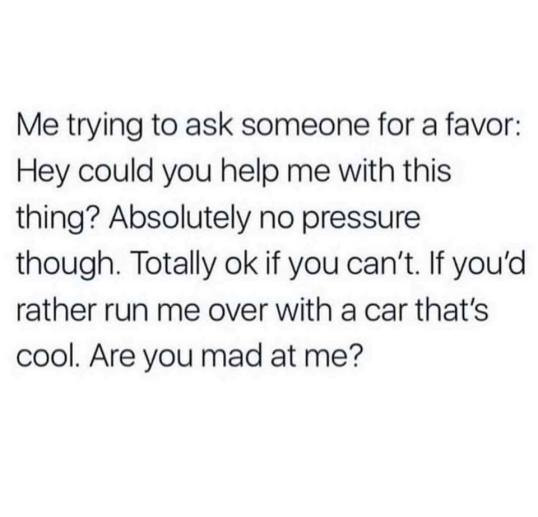 asking for a favor